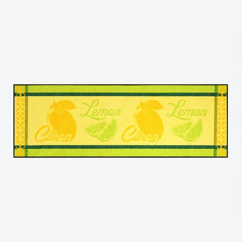 ce tapis de sol sp cial cuisine au design exclusif au motif citron prot ge sols et articulations. Black Bedroom Furniture Sets. Home Design Ideas