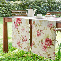Chemin de table: Linge de table anglais au motif de roses
