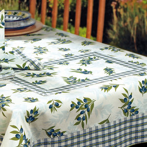 Set de table: Linge de table estival aux brins d´oliviers