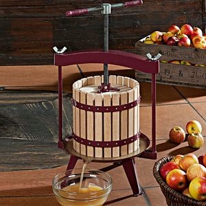 Pressoir à fruits traditionnel : jusqu´à 11 litres de jus par cycle