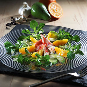 Salade avocat-orange au crabe royal